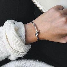 bracelete nó ródio - Moda à la carte - cool stuff