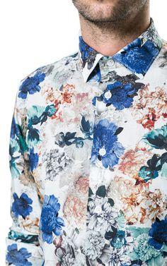 Zara floral shirt.