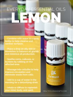 WIN ME! (1) 15 mL Bottle of Young Living Lemon Everyday Essential Oil | healthylivinghowto.com