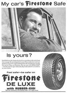 Firestone De Luxe Tire Ad 1962