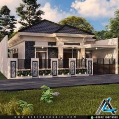Bungalow House Design, Small House Design, House Front, My House, Black House Exterior, Home Designer, Classic House, My Dream Home, Architecture Design