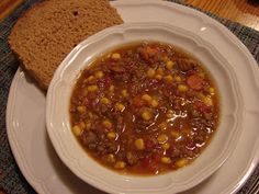A Bear in the Kitchen: Hamburger Soup (Freezer Meal and Crockpot Meal)