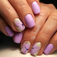 Дизайн ногтей тут! ♥Фото ♥Видео ♥Уроки маникюра Gelish Nails, Diy Nails, Colorful Nail Designs, Nail Art Designs, Infinity Nails, Violet Nails, Easter Nail Art, Fingernail Designs, Nail Time