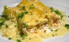 Cannelloni con salmone e finocchio - Cannelloni mit Lachsfüllung und Fenchelsauce   | Rezept | Rezepte mit Bildern für die anspruchsvolle Hobbyküche
