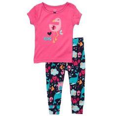 Carter`s Pink Flamingo Snug-fit 2 Piece Pajama Set $19.99