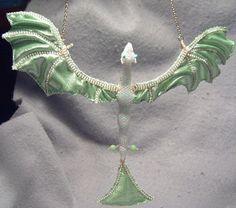 Adariel OoaK hanging dragon pendant or by ShinyThingsbyOrin