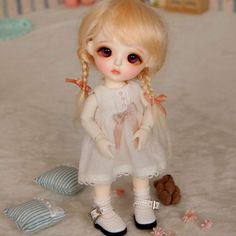High Quality New Mini 1//8 BJD SD Girl Doll Resin DIY Makeup Gift with two heads