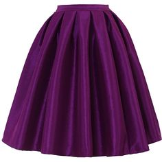 Chicwish Purple A-line Midi Skirt ($30) ❤ liked on Polyvore featuring skirts, bottoms, purple, midi skirt, wet look skirt, knee length pleated skirt, high waisted midi skirt and a line midi skirt