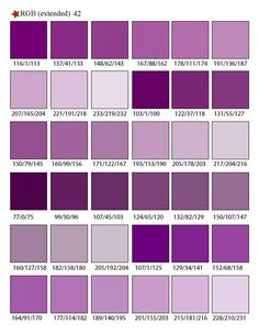 Shades of Purple Color Palette Swatches. I love ALL the shades of Purple!
