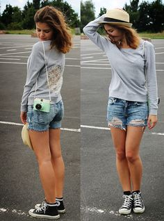 Lace heart and ripped jeans // DIY (by Gerda W)