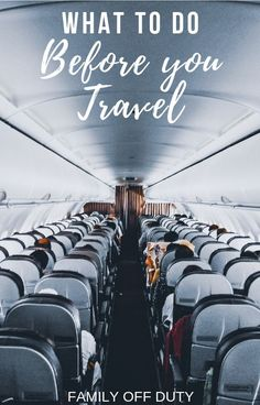 A checklist for things you need to do before you travel that aren't packing. Be completely organized and prepared for anything with this checklist. Travel Advice, Travel Guides, Travel Tips, Travel Hacks, Air Travel, Solo Travel, Family Vacation Destinations, Travel Destinations, Vacations