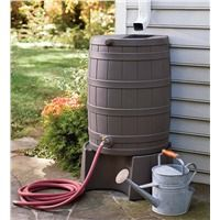 Plow Stand for Rain Wizard Water Conservation Barrel Collection Accessories from Plow & Hearth on Catalog Spree Rain Barrel Stand, Rain Barrels, Water Barrel, Garden Tool Shed, Garden Gate, Garage, Water Collection, Thing 1, Cool Stuff