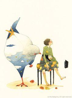Love this illustrator! Rie Nakajima (Japanese illustrator). Комментарии : LiveInternet - Российский Сервис Онлайн-Дневников