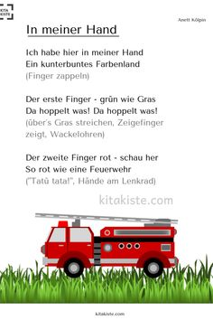 """""""In meiner Hand"""" Fingerspiel (Farb-Projekt) - Kindergarten Portfolio, Kindergarten Songs, Kindergarten Art Projects, Funny Fingers, Finger Games, Color Songs, Finger Plays, Woodland Party, Holiday Cocktails"""