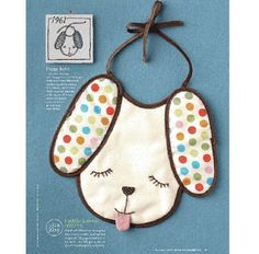 Good Housekeeping Magazine and Etsy Cuore Limited Edition Polka Dotted Puppy Baby Bib. $20.00, via Etsy.