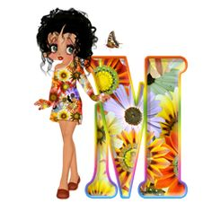 ღღEl Rincón De Betty Boop ღღ: Abecedario Florar de Betty Boop