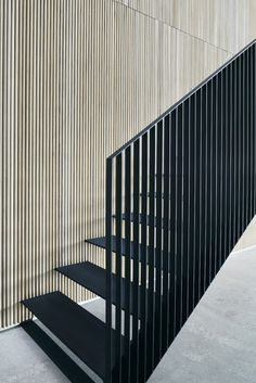 Built for a family, who are the third generation owners of VIPP this beach villa, Dragor House, is designed by Studio David Thulstrup and Mads Lund. Stairs Architecture, Interior Architecture, Interior Design, Residential Architecture, Escalier Design, Stair Handrail, Railings, Minimalist Architecture, Interior Stairs