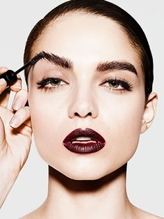 Sure, you could put on the same black eyeliner and peach blush again, but why not mix it up? We've saved you eight hours' worth of inspiration hunting on Pinterest: Here are all the bright lips, bold brows, and dewy skin ideas you need to break out of your makeup monotony.