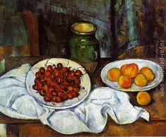 Still Life with a Plate of Cherries 1887 Paul Cezanne art for sale at Toperfect gallery. Buy the Still Life with a Plate of Cherries 1887 Paul Cezanne oil painting in Factory Price. Cezanne Art, Paul Cezanne Paintings, Oil Paintings, Cezanne Still Life, Aix En Provence, Painting Still Life, Famous Still Life Paintings, Henri Rousseau, Henri Matisse
