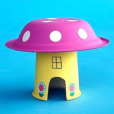 mushroom house paper plate craft cheer and cherry