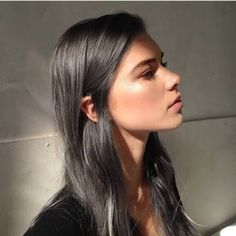 Image result for charcoal grey hair