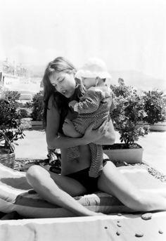 Jane Birkin and Charlotte Gainsbourg