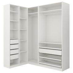 Closet Organizers 425168021070230907 - IKEA PAX Penderie d'angle Source by equinature Ikea Pax Corner Wardrobe, Corner Closet, Ikea Closet, Closet Shelves, Wardrobe Small Bedroom, Attic Wardrobe, Attic Closet, Bathroom Closet, Bedroom Closet Design