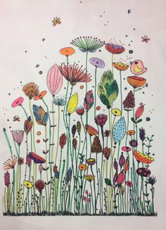 Und der Gewinner ist … Amélie Laffaiteur Amelie Der Gewinner illustration ist Laffaiteur und is part of Flower drawing - Doodle Drawings, Doodle Art, Art Floral, Happy Paintings, Inspiration Art, Flower Doodles, Watercolor Cards, Oeuvre D'art, Flower Art