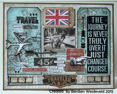 Scrap from Bemmel using Tim Holtz, Ranger, Sizzix and Stamper's Anonymous products; Feb 2015