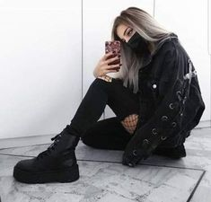 the most popular grunge fashion styles for summer outfits - outfits - . - the most popular grunge fashion styles for summer outfits – outfits – - Style Outfits, Punk Outfits, Tumblr Outfits, Hipster Outfits, Mode Outfits, Fashion Outfits, Fashion Ideas, Dress Fashion, Fashion Clothes