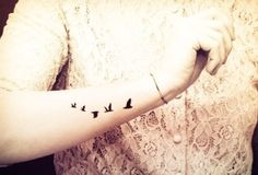 Birds tattoo. Love this!