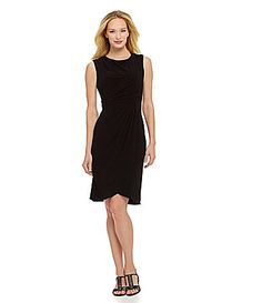 Adrianna Papell Asymmetric Drape Dress #Dillards