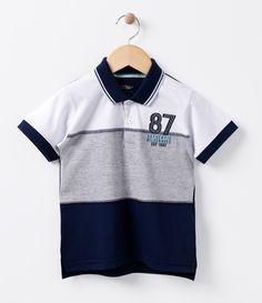 0ce6a90adf Camiseta Polo Infantil com Recortes - Tam 1 a 4 - Lojas Renner