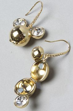 The Minnie x Mawi Crystal Ears Drop Earring in Gold