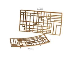 Circuit Board Antique Gold Metal Tray in 2 Sizes