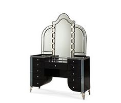 Crystal Croc Upholstered Swivel Lingerie Chest|Hollywood Swank| Michael Amini Furniture Designs | amini.com