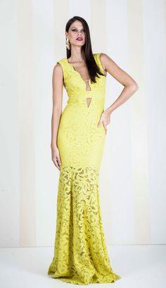 VESTIDO RENDA AMARELO LONGO - VE20389-15 | Skazi e Skclub, Moda feminina, roupa casual, vestidos, saias, mulher moderna
