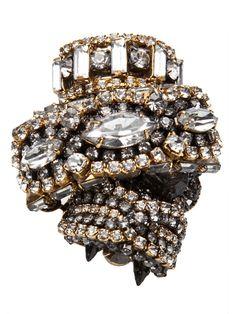 erickson beamon jewelry brooches | Erickson Beamon - Bette davis ring