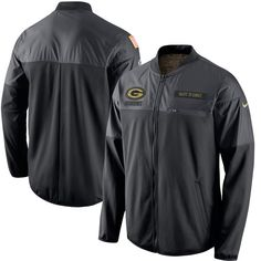 Green Bay Packers Nike Salute to Service Hybrid Performance Jacket - Black - $99.99