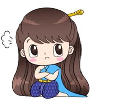 Boobib in traditional thai girl style. She is lovely, funny and cute. Let's her make your chat full of fun. Cute Couple Cartoon, Cute Love Cartoons, Cambodian Art, Retro Girls, Line Sticker, Cute Couples, Chibi, Hello Kitty, Girl Fashion