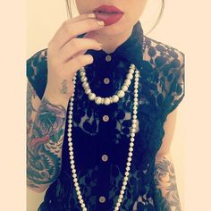 girl cute black tattoos lips inked tattoo outfit ink tattooed oc dressy body modifications modifications arm tattoos