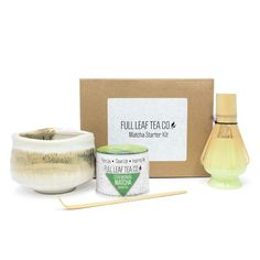 Full Leaf has created the ultimate starter kit for matcha enthusiasts! Enjoy Ceremonial matcha with all of the matcha accessories! Matcha Whisk, Matcha Bowl, Matcha Green Tea, Tea Companies, Other Recipes, Ceramic Bowls, Starter Kit, Healthy Drinks, Superfood