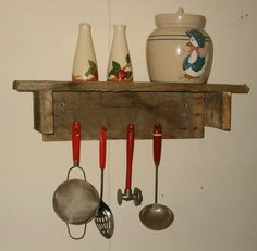 Primitive, Wall Shelf, Rustic, Home Decor, Wood Shelf. $19.99, via Etsy.