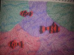 Abstract coral and fish
