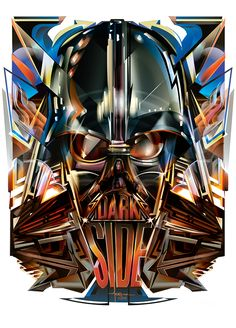 Vector Pop-Deco Dark Side Tribute - inspired by the character in George Lucas' Empire Strikes Back.Limited Signed Prints availabe at mexifunk.com