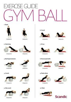 Exercise ball-don't forget to use this! Más