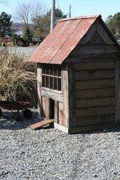 Bob Bowling Rustics - short chicken coop but I like it.