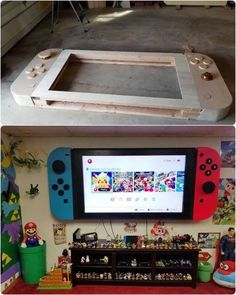 77 Super Fun Furniture Ideas for Game Room - Raumgestaltung Ideen Deco Gamer, Video Game Rooms, Video Game Bedroom, Teen Game Rooms, Small Game Rooms, Video Game Decor, Video Games, Gaming Room Setup, Gaming Rooms