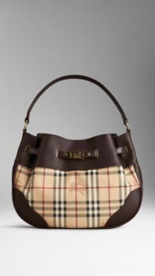 81463c714a9d Shop the iconic range of check bags from Burberry Haymarket