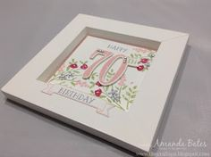 The Craft Spa - Stampin' Up! UK independent demonstrator : Number of Years - 70th Birthday Card
